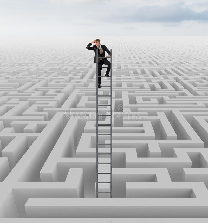 Free Looking For The Solution Of The Maze Stock Photos - 40903963