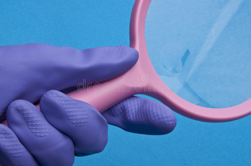 Looking For Germs Royalty Free Stock Images