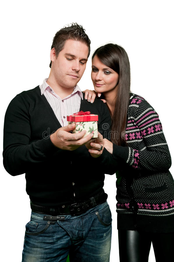 Download Looking at gift stock photo. Image of birthday, gift - 16557992