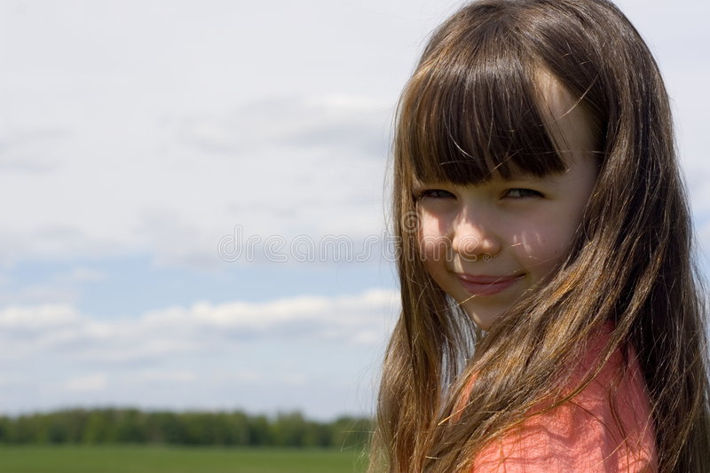 Looking girl royalty free stock photography