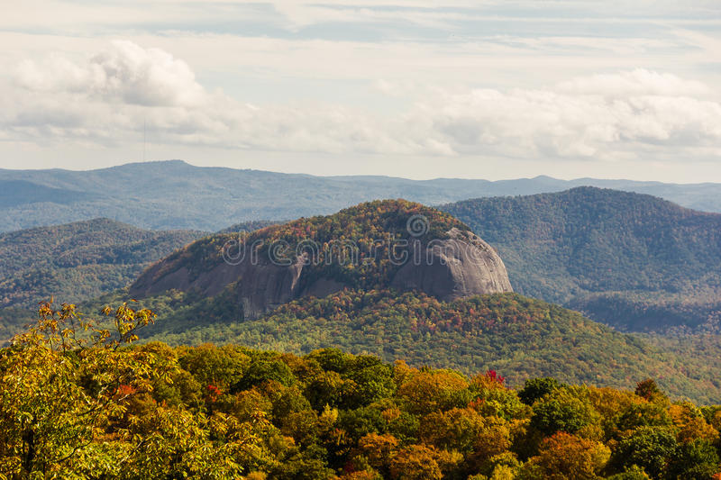 Looking Glass Rock in NC stock photography