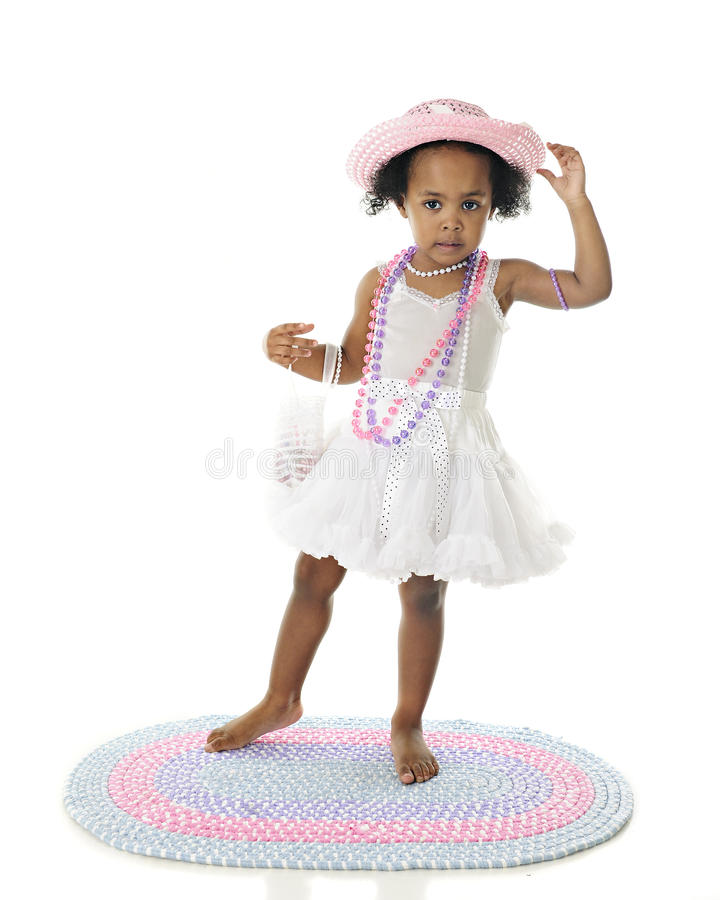 Looking Good in Petticoat, Purse and Pearls stock image