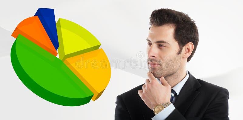 Looking at the graph royalty free stock photos