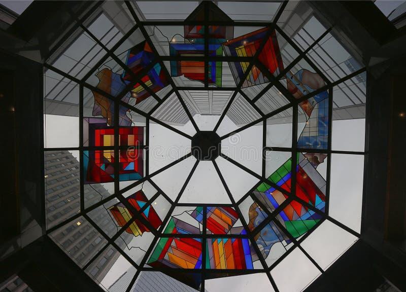 Kaleidoscope in downtown Toronto royalty free stock image