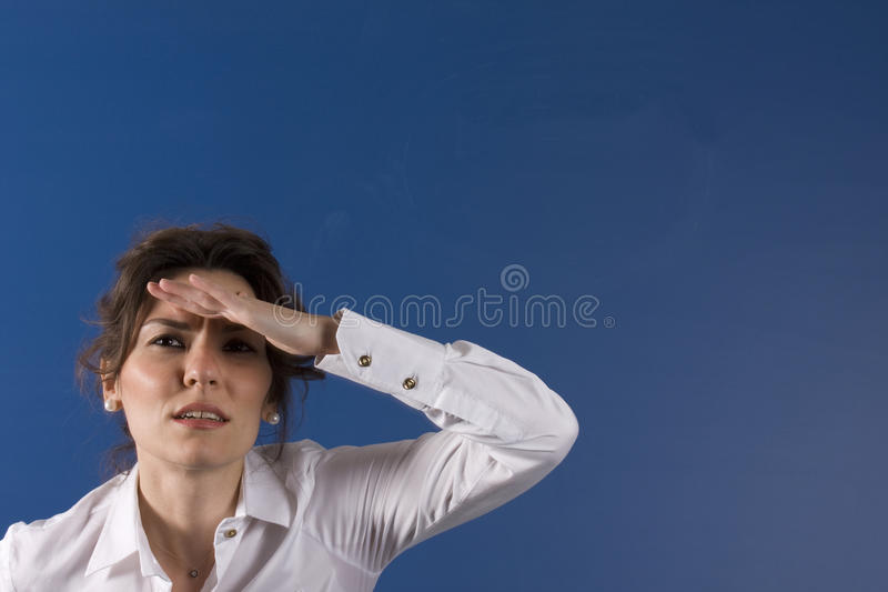 Download Looking for help stock illustration. Image of female - 22260337