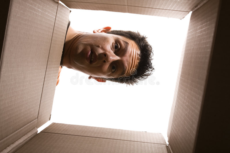 Looking Inside The Box Royalty Free Stock Image