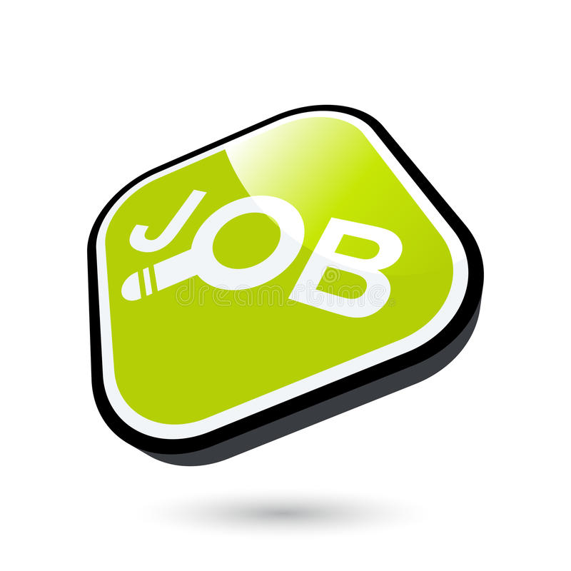 Looking for job button stock illustration