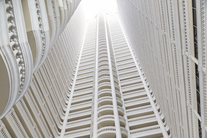 Looking the Light in High Rise Building stock photos