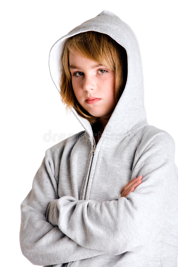 Download Looking Little Angry In My Hooded Sweater Stock Image - Image: 11380295