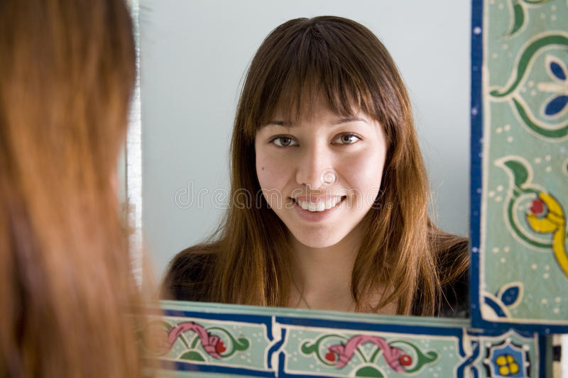 Download Looking in Mirror stock photo. Image of asian, camera - 10725354