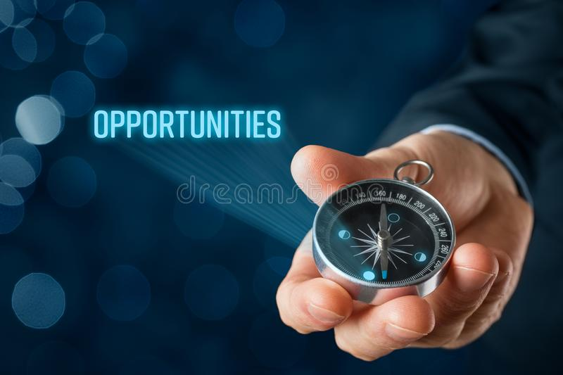 Looking for opportunities concept stock photography