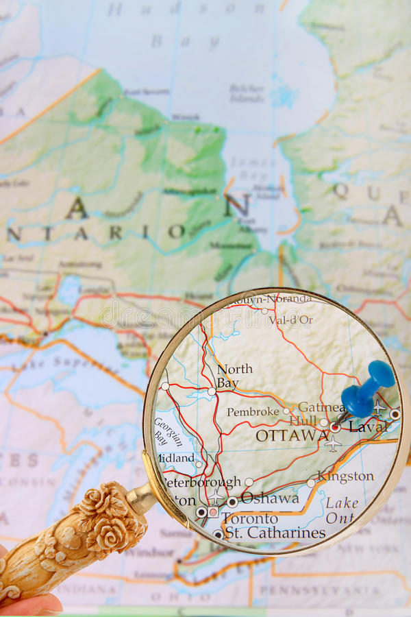 Looking in on Ottawa, Ontario, Canada royalty free stock photos