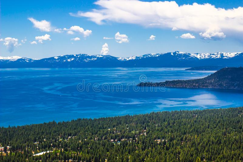 Looking Out To Peninsula On Lake Tahoe stock photography
