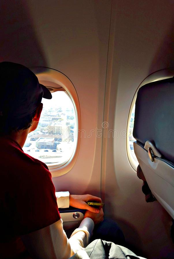 Looking out the window stock photos