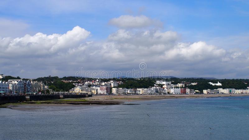 Douglas on the Isle of Man. Looking over Douglas Bay towards the Victorian promenade, Isle of Man stock images