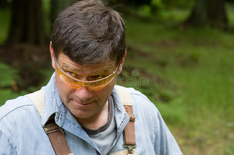 Looking Over Glasses Checking It Out Royalty Free Stock Photos