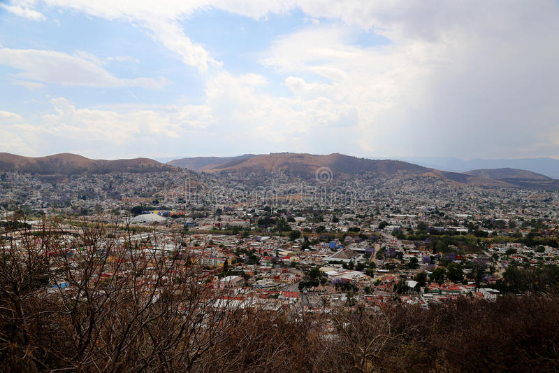 Looking over Oaxaca city, Mexico. Vieuw over Oaxaca city in Mexico royalty free stock photo
