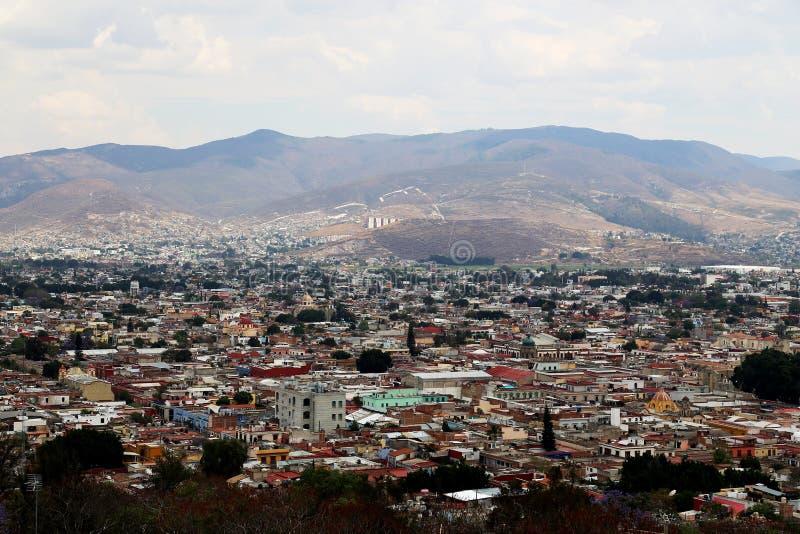 Looking over Oaxaca city, Mexico. Vieuw over Oaxaca city in Mexico royalty free stock photography