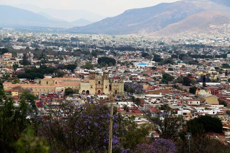 Looking over Oaxaca city, Mexico. stock image