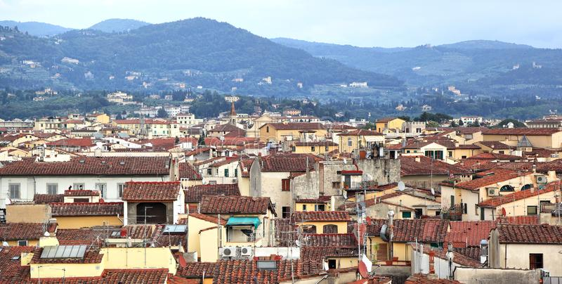 Florence Rooftops royalty free stock photo