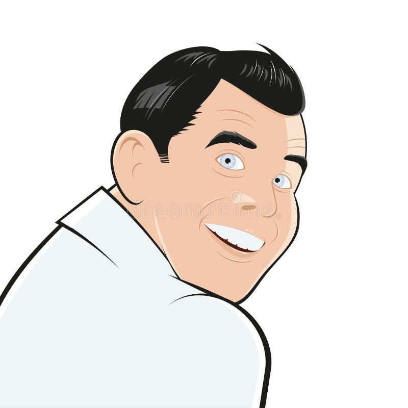 Download Looking over shoulder stock illustration. Image of handsome - 26323225