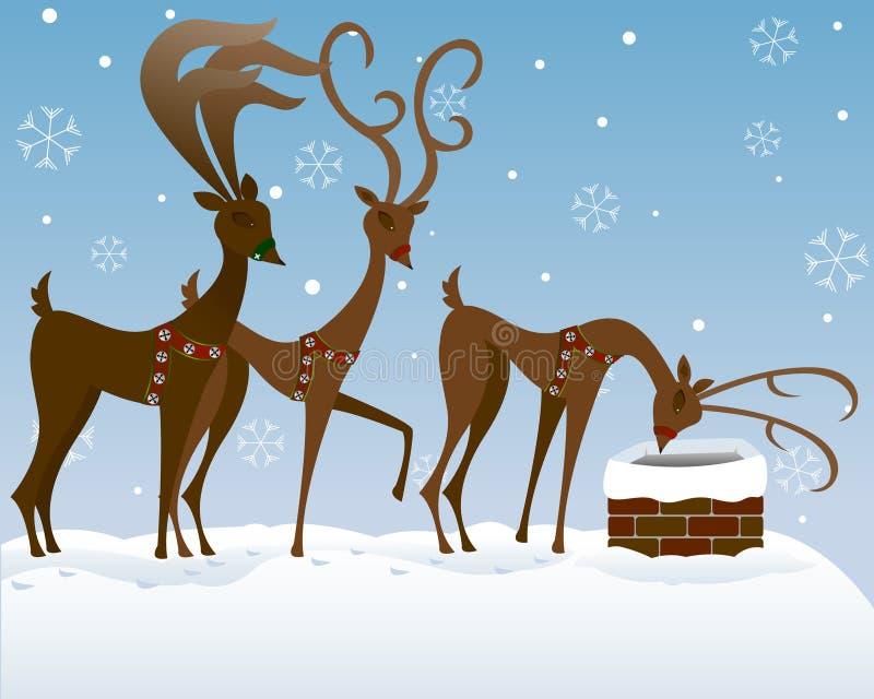 Download Looking for Santa stock illustration. Image of deer, chimney - 1300171