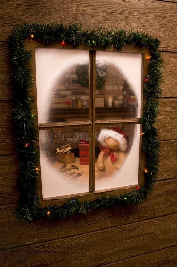 Download Looking Into Santa's Workshop Stock Image - Image of december, bear: 10907481