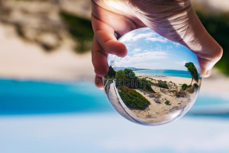 Looking at the sea from another perspectiva royalty free stock image