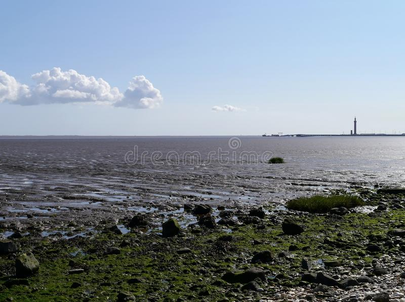 Download Looking From Shoreline To Distant Dock Area Royalty Free Stock Photography - Image: 33419297