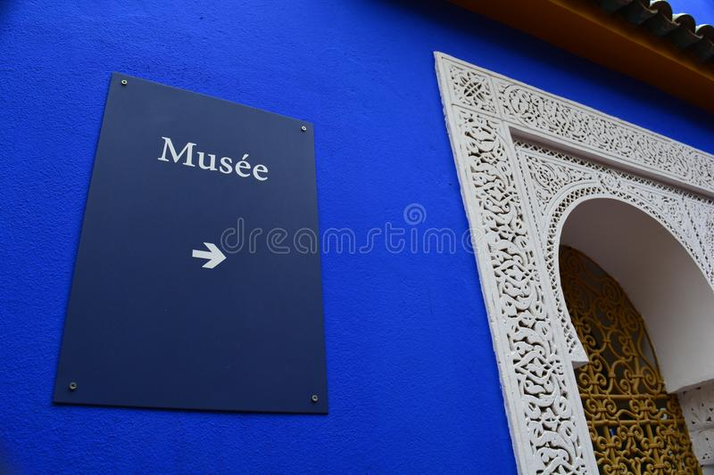 Musee de jardin majorelle in Marrakech royalty free stock photos