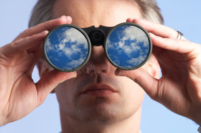 Looking at the sky stock photography