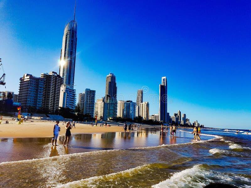 Skyline on the beach stock photography