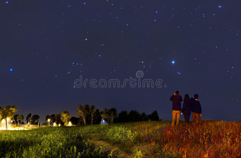 Looking at the stars royalty free stock images