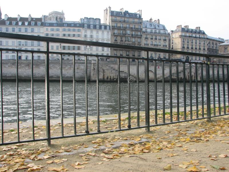 Looking to the Left Bank of the Seine River, Paris royalty free stock image