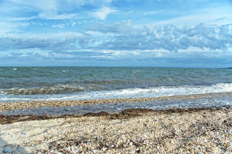 View of Gardiners Bay From Orient Beach State Park, Long Island, NY royalty free stock images