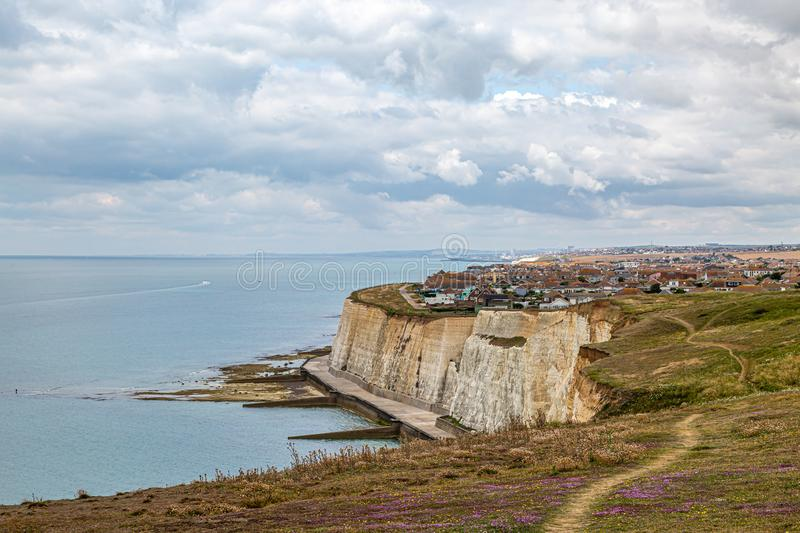 A View of Peacehaven in Sussex stock image