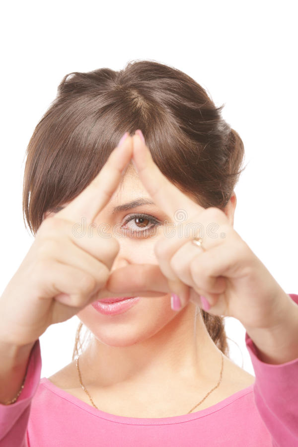 Download Looking Through Triangle Frame Stock Photo - Image: 11812328