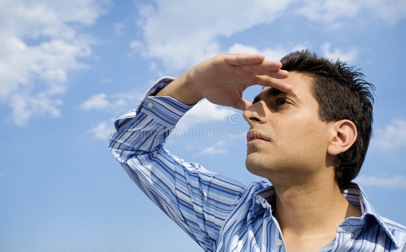 Looking up stock photography