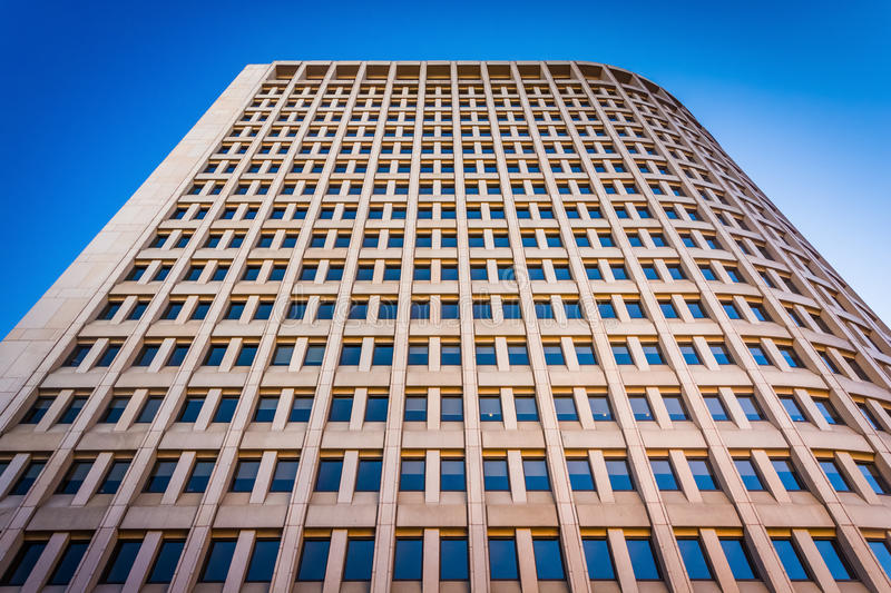 Looking up at the Brandywine Building in downtown Wilmington, De. Laware royalty free stock images