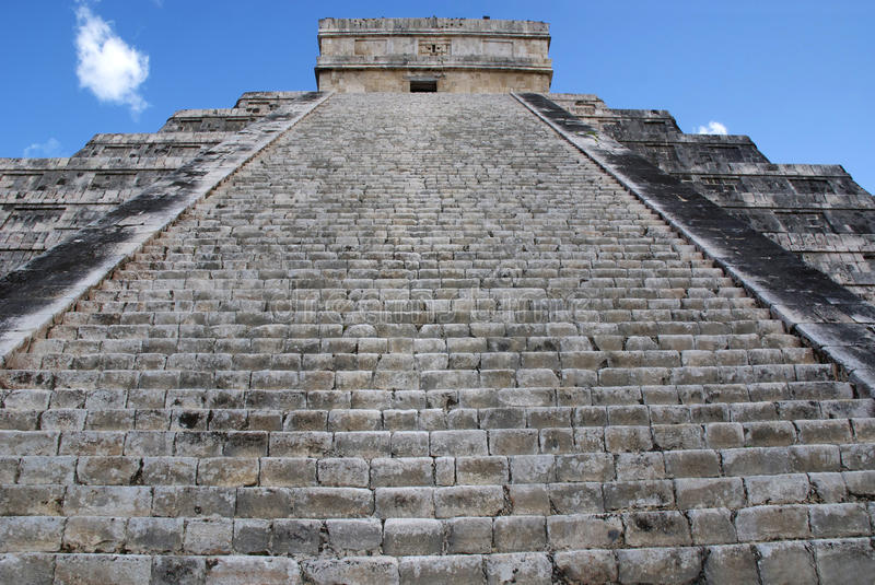 Looking up at Chichen Itza