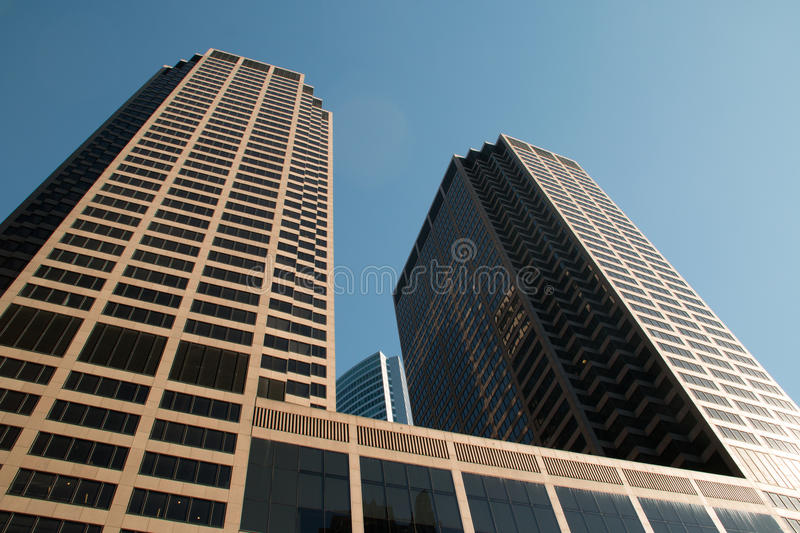 Download Looking Up At Downtown Chicago Skyscraper Buildings Stock Photo - Image of finance, bridge: 61854720