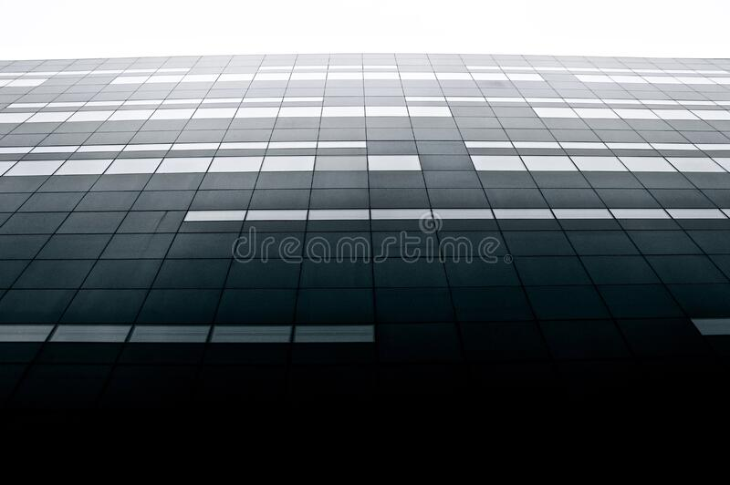 Looking up high rise building stock photo