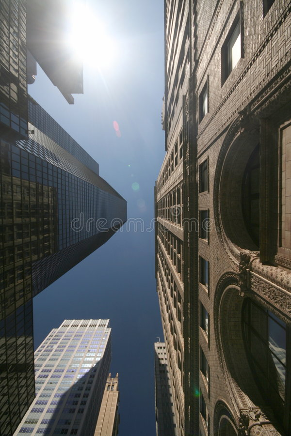 Looking up in NYC royalty free stock photography