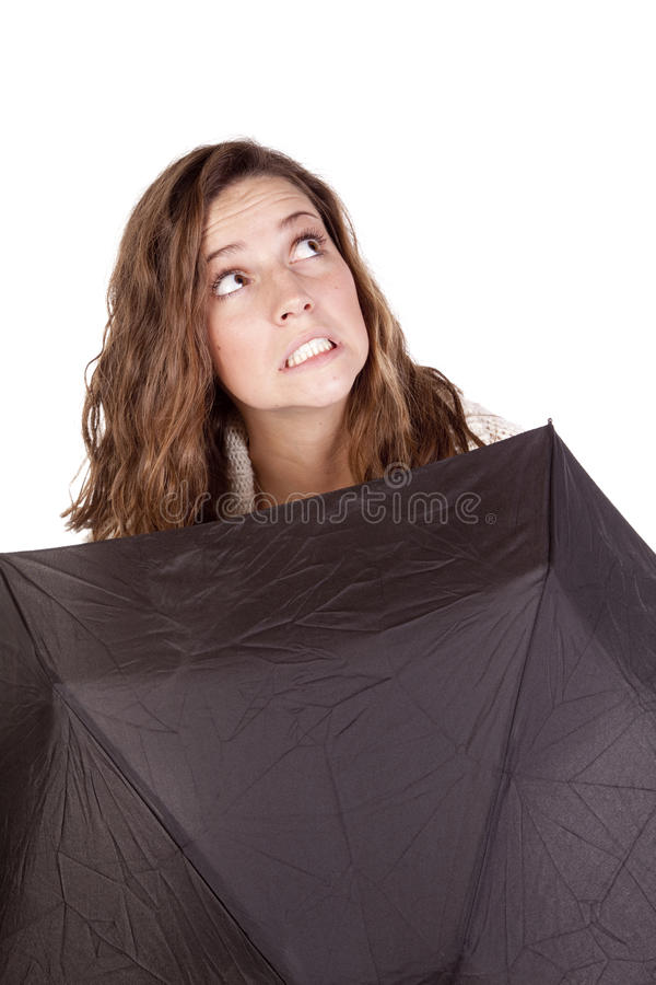 Download Looking up over umbrella stock image. Image of girl, modern - 16941719