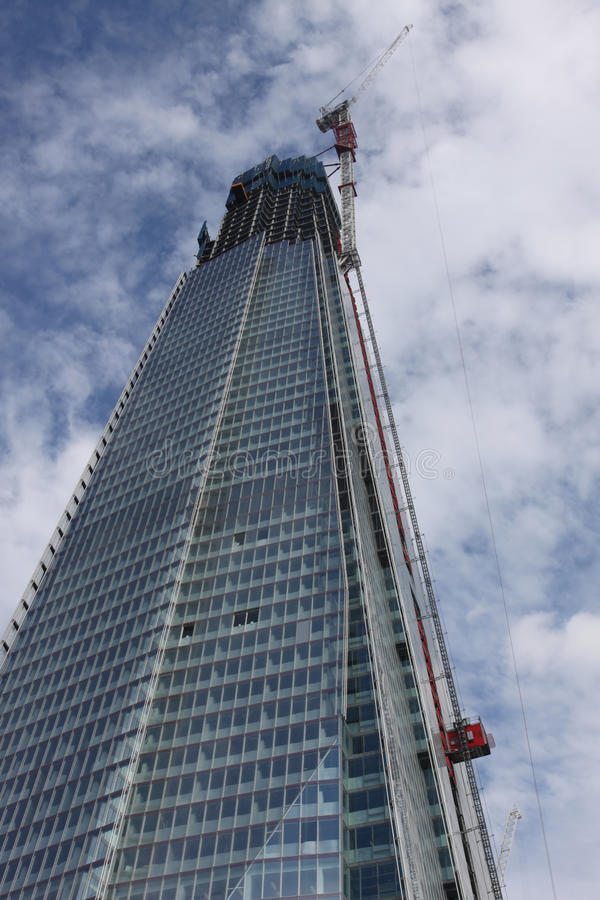 Looking Up At The Shard London Editorial Photography