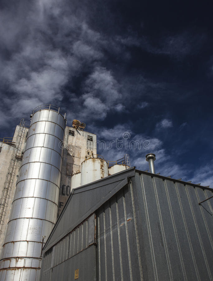 Looking Up the Silo royalty free stock photo