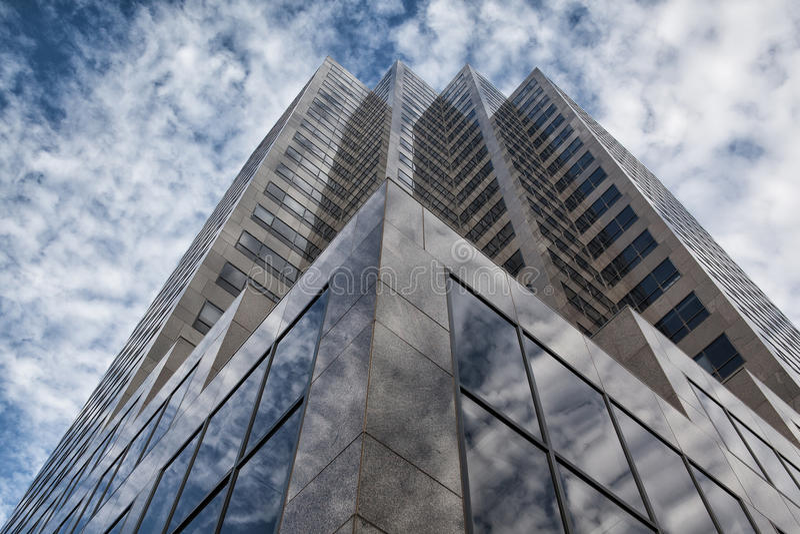 Looking up - skyscraper in Denver royalty free stock photos
