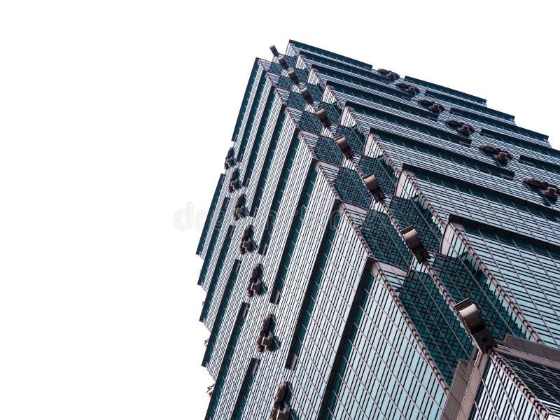 Looking up Taipei 101 Taipei World Financial Center a landmark supertall skyscraper in Xinyi District. TAIPEI, TAIWAN - March 11, 2019: Looking up Taipei 101 royalty free stock image