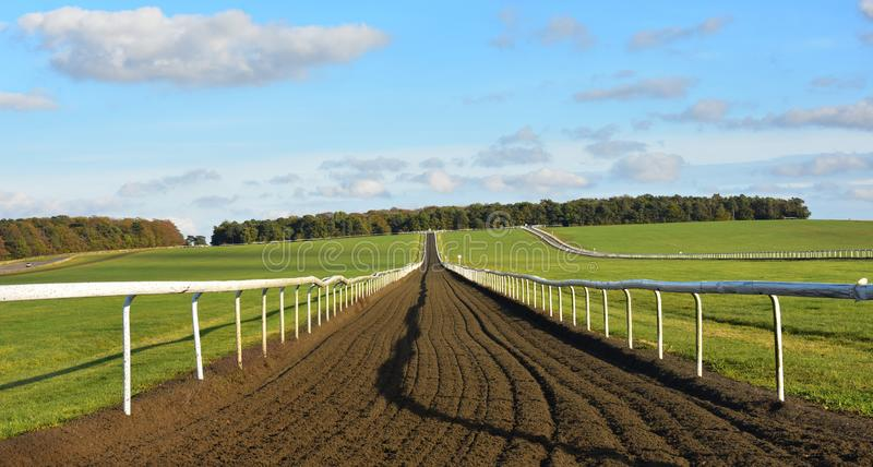 Looking up the training gallops - Newmarket Heath, Suffolk, UK royalty free stock images