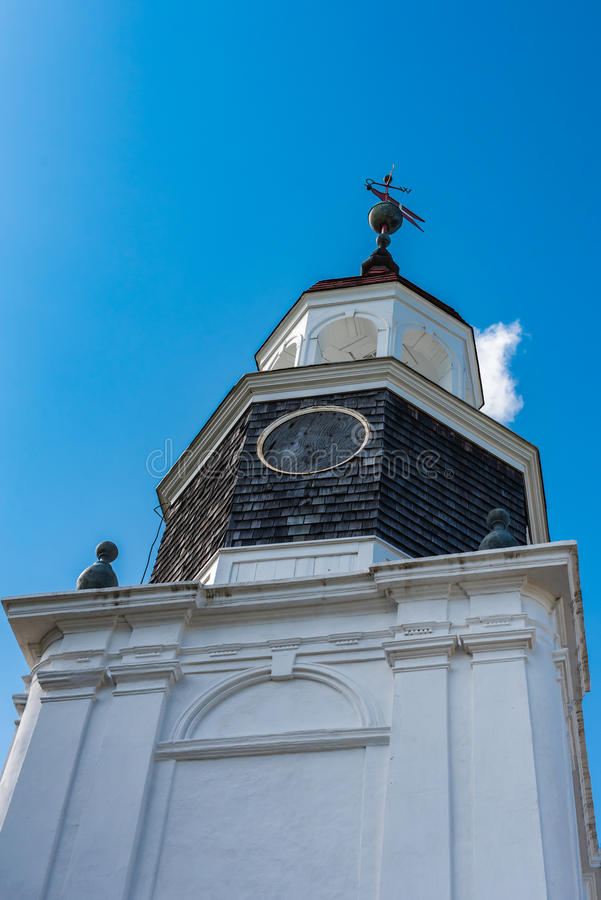 Looking Up View of a Church Tower royalty free stock photography